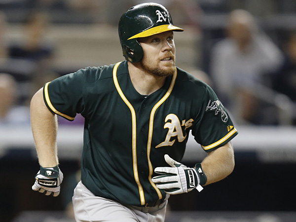 Brandon Moss of the Oakland Athletics. (Kathy Willens/AP)