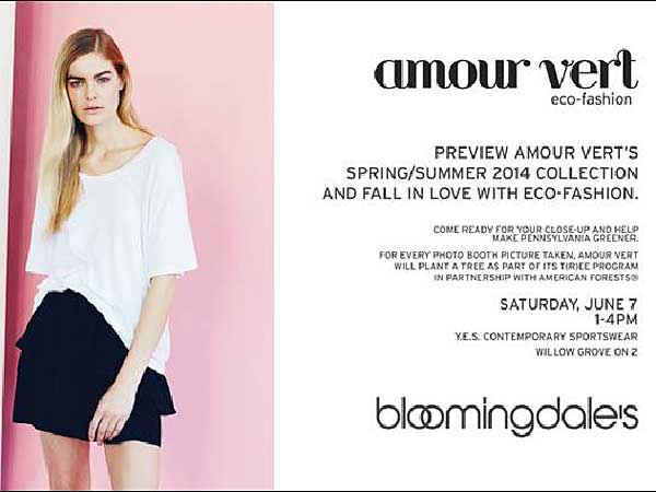 Visit Bloomindales Saturday, June 7 for the Amour Vert brand launch event.