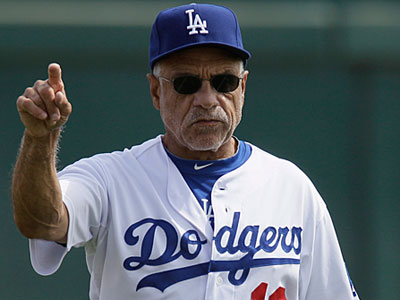 Ex-Phillies first base coach Davey Lopes is now with the Los Angeles Dodgers. (AP Photo/Nam Y. Huh)