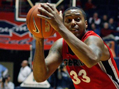 Georgia forward Trey Thompkins was the most highly regarded of the five prospects at Monday´s workout. (Rogelio V. Solis/AP file photo)