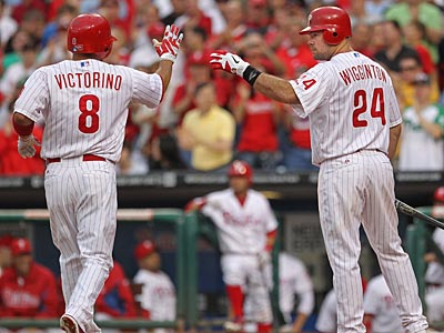 The Phillies have fared well in games in which Shane Victorino scores a run. (Michael Bryant/Staff Photographer)