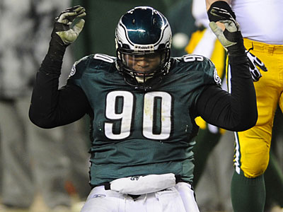 Eagles defensive tackle Antonio Dixon will be fighting for a roster spot at Lehigh. (AP Photo / Michael Perez)
