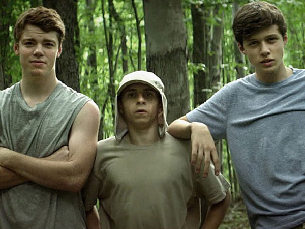 Nick Robinson, Gabriel Basso, and Moises Arias in The Kings of Summer.
