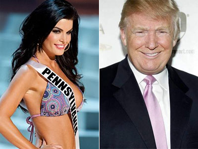 Former Miss Pa. Sheena Monnin, left, faced off against Donald Trump in June.