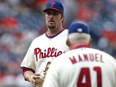 Chad Qualls has struggled since joining the Phillies. (David Maialetti/Staff Photographer)