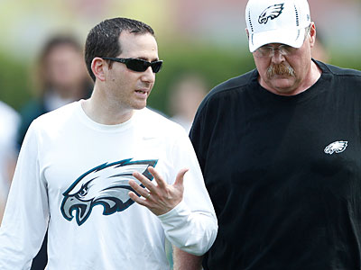 Howie Roseman and Andy Reid will need to balance the good cop-bad cop act in player negotiations. (David Maialetti/Staff Photographer)