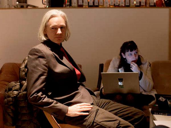 "Julian Assange in the riveting doc ""We Steal Secrets: The Story of WikiLeaks."""