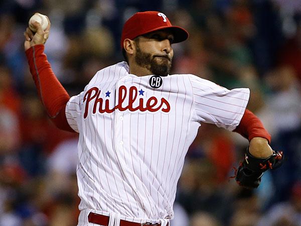 Phillies pitcher Mike Adams. (Matt Slocum/AP)