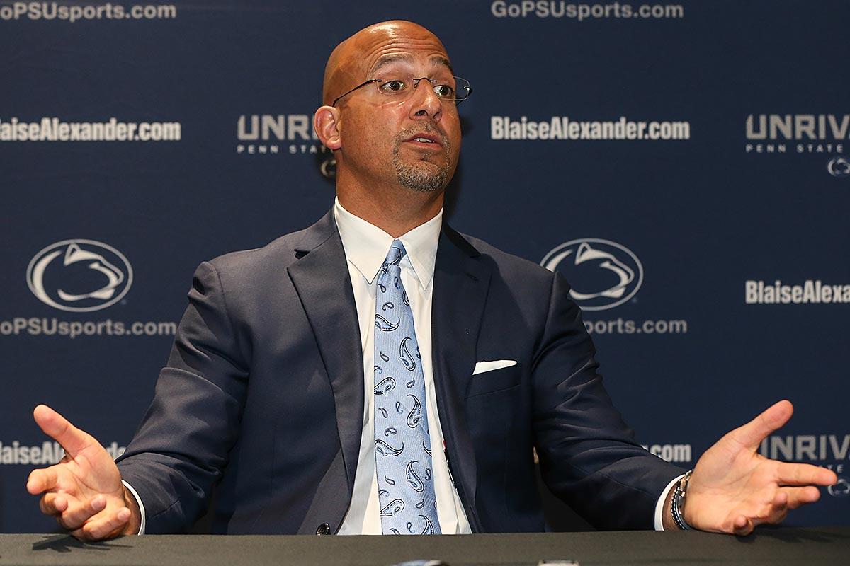 Penn State head coach James Franklin.