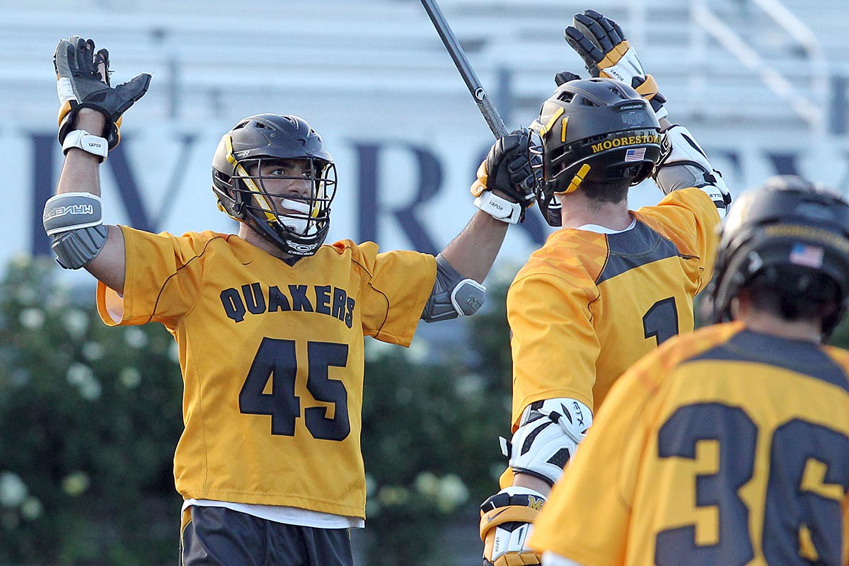 Moorestown´s Frankie Labetti and Quinn Willis celebrate their win against Pingry.