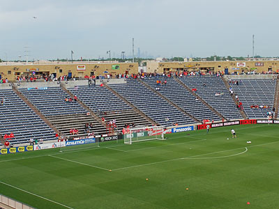 Toyota Park is about as far from downtown Chicago as PPL Park is from central Philadelphia. (Jonathan Tannenwald/Philly.com)