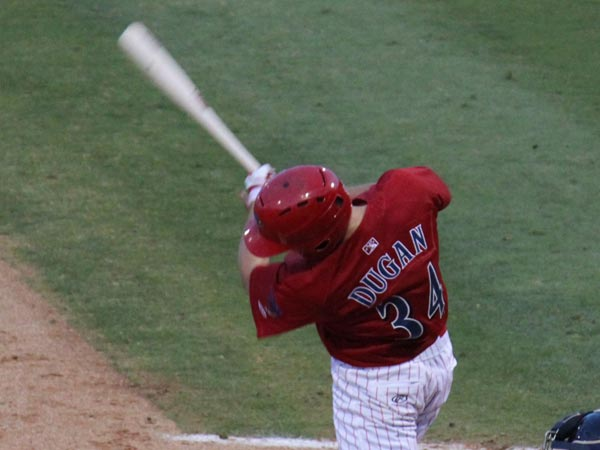 Phillies prospect Kelly Dugan. (Courtesy of Clearwater Threshers)