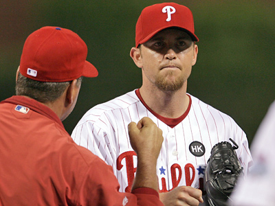 Phillies closer Brad Lidge was placed on the disabled list today. He has six blown saves this season. (Yong Kim / Staff Photographer)