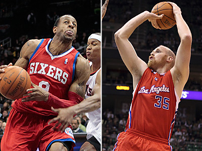 According to a report, the Sixers are in trade talks with the Clippers involving Chris Kaman. (AP Photos)
