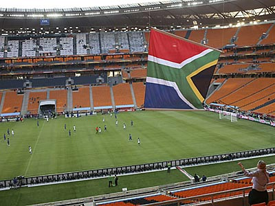 Johannesburg´s Soccer City Stadium is ready to stage the opening match of the 2010 World Cup. (Armando Franca/AP)
