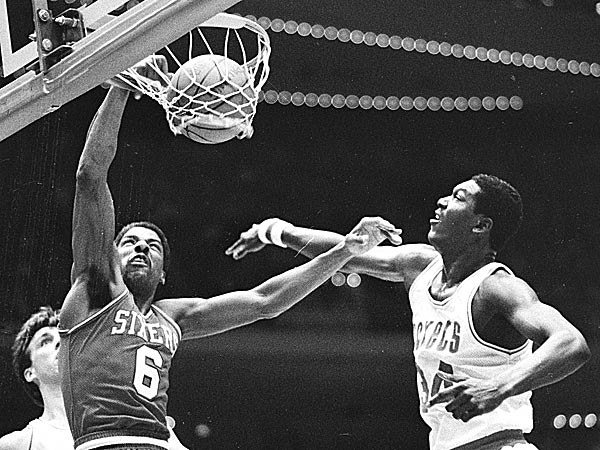 Julius Erving was one of only two players that scored 10,000 or more points in both NBA and ABA. (F. Carter Smith/AP file photo)