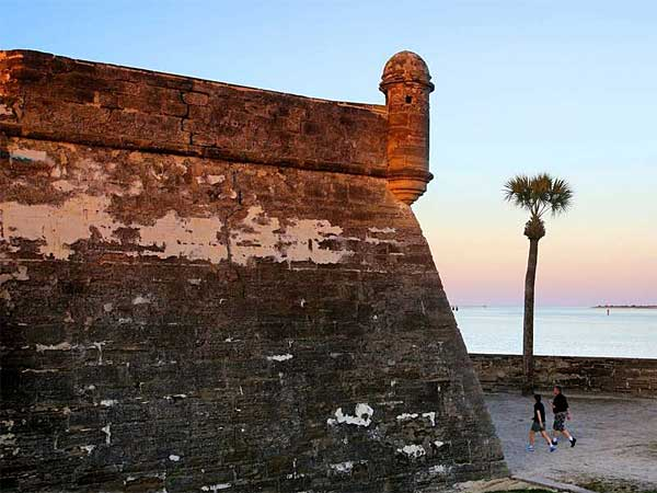 """C"" is for Castillo de San Marcos: The Spanish masonry fort built on Matanzas Bay in 1695 is arguably St. Augustine´s most famous landmark. (Joe Burbank/Orlando Sentinel)"