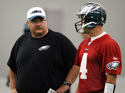 Will Andy Reid and Kevin Kolb get the Eagles to the playoffs in 2010? (Laurence Kesterson / Staff Photographer)