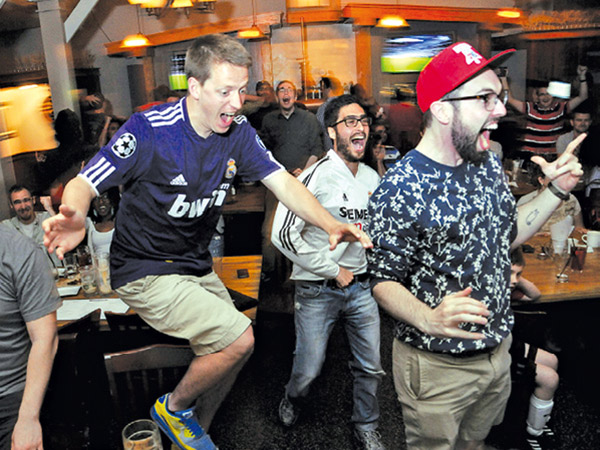 Brauhaus Schmitz is one of Philadelphia´s best known soccer bars. (Curt Hudson/For the Daily News)