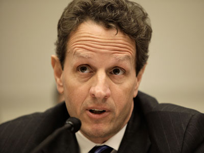 Treasury Secretary Timothy Geithner announced this week that the Obama Administration would lift limits on executive compensation established during the economic crisis, but would push to give shareholders more of a say in how corporate leaders are paid. (AP Photo / J. Scott Applewhite)