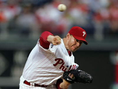 Roy Halladay (8-4) will start against CC Sabathia and the Yankees on Tuesday evening. (David Swanson / Staff Photographer)
