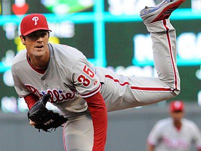 Cole Hamels improved to 9-3 with a win over the Twins on Wednesday. (Jim Mone/AP)