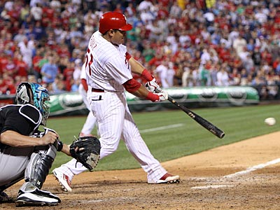 Carlos Ruiz is batting .320 when he faces a starter a second time and .294 during the third. (Steven M. Falk/Staff Photographer)