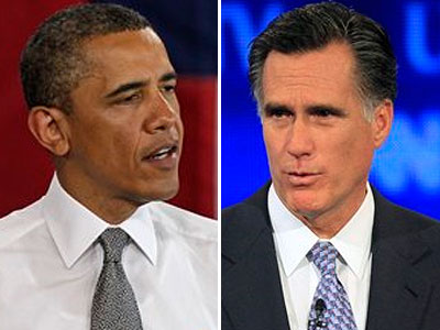 President Obama and Republican Mitt Romney will fight it out in November. (AP Photos)