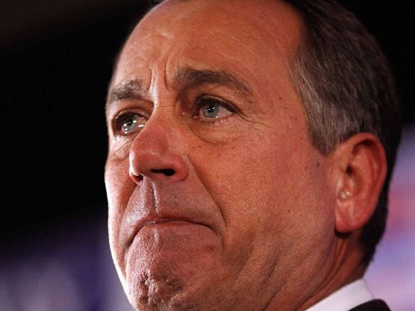 A teary-eyed House Speaker John Boehner of Ohio (AP Photo)
