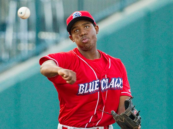 Maikel Franco in 2012. (Brian Westerholt/Four Seam Images via AP Images)
