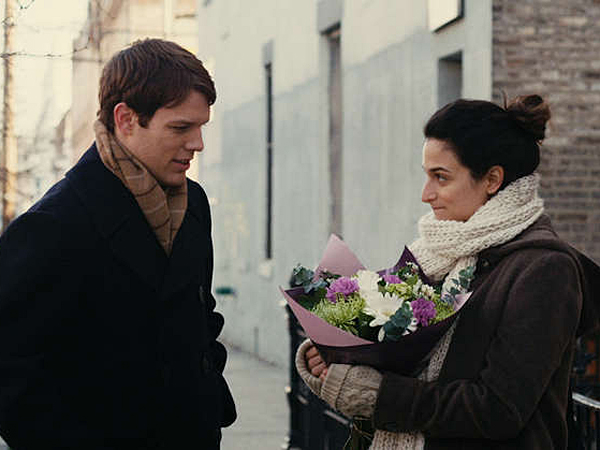 """Jenny Slate (left, with Jake Lacy) plays a Brooklyn comedian who finds herself pregnant after a one-night stand in """"Obvious Child."""" (Chris Teague)"""