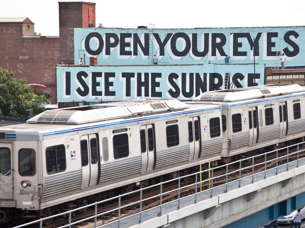 SEPTA´s Market-Frankford trains start around dawn, but some want 24-hour service. (ADAM WALLACAVAGE/Mural Arts Program)