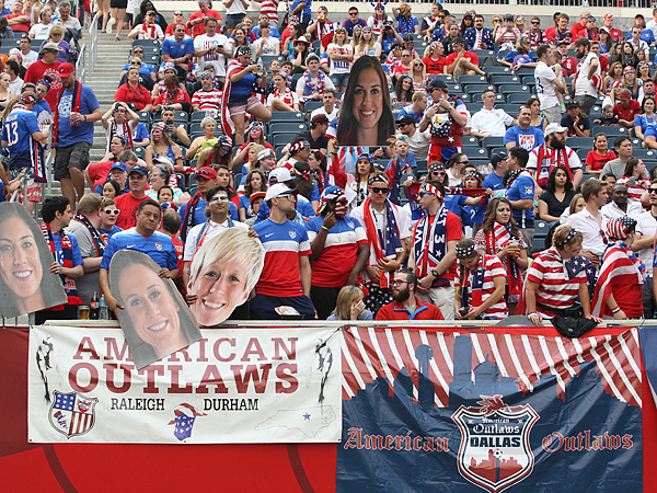 This year´s Women´s World Cup is the first that the American Outlaws are officially attending as an organization. (Bruce Fedyck/USA Today Sports)