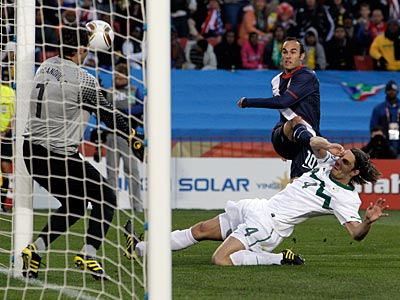 Landon Donovan scored the first goal for the U.S. (AP Photo / Elise Amendola)