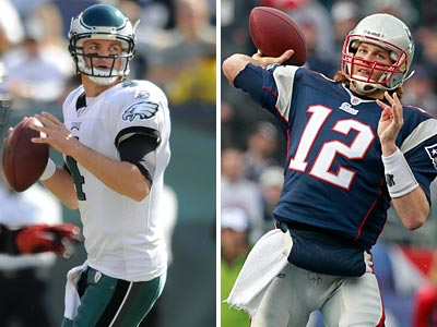 Kevin Kolb and Tom Brady have had different careers, but their style of play may be similar. (Clem Murray/Staff Photographer, AP Photo)