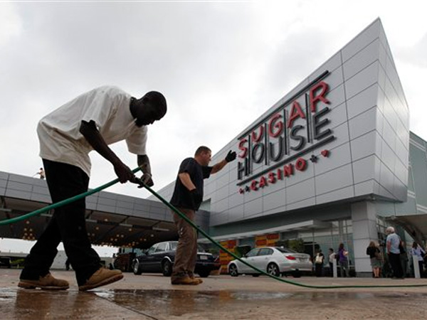 When SugarHouse Casino opened its doors in 2010, about 42 percent of its slot revenues came from Parx and Harrah's Philadelphia. (AP Photo/Matt Rourke)