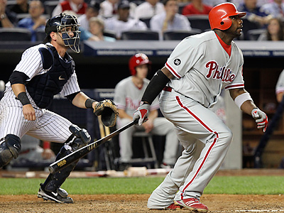 Ryan Howard and the Phillies defeated the Yankees, 7-1, Wednesday. (AP Photo/Seth Wenig)