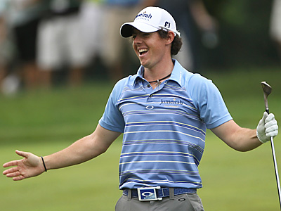 Rory McIlroy, of Northern Ireland, won the U.S. Open in record fashion.  (AP Photo/Mike Groll)