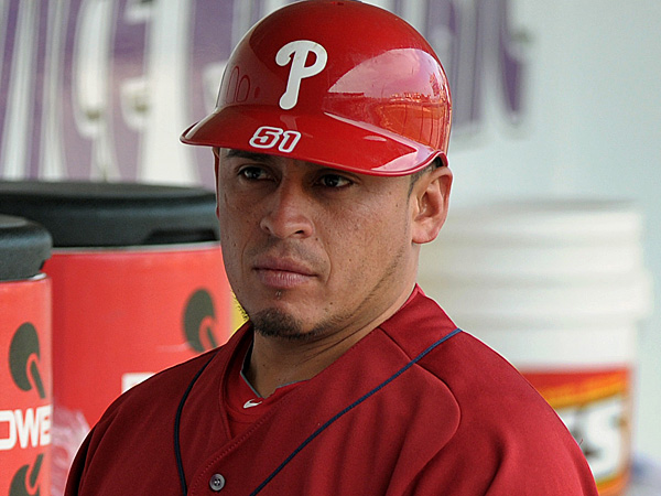 Phillies catcher Carlos Ruiz. (Matt Smith/AP/The Express-Time)