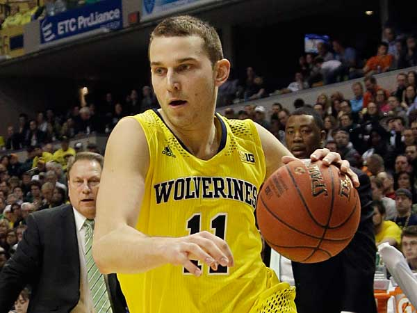 Michigan guard Nik Stauskas. (AJ Mast/AP)