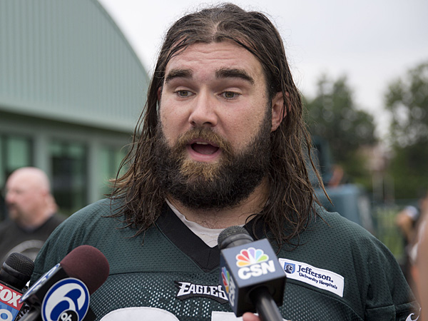 Eagles center Jason Kelce. (Matt Rourke/AP)