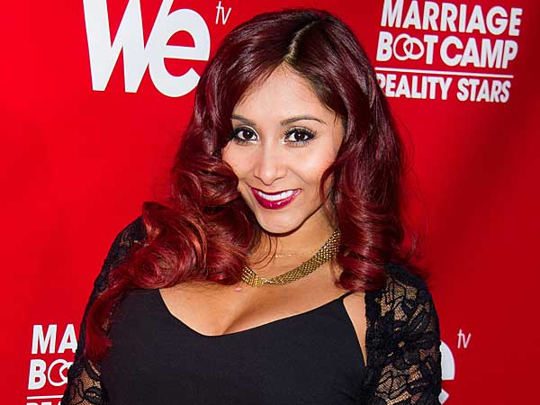 "Nicole ""Snooki"" Polizzi attends WE tv´s ""Marriage Boot Camp: Reality Stars"" party on Thursday, May 29, 2014 in New York. (Photo by Charles Sykes/Invision/AP)"