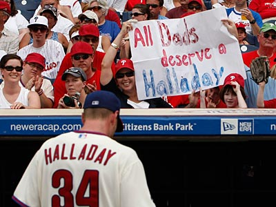 Fans were treated to a Roy Halladay start on Father´s Day. Unfortunately, Halladay allowed the loss. (Ron Cortes / Staff Photographer)