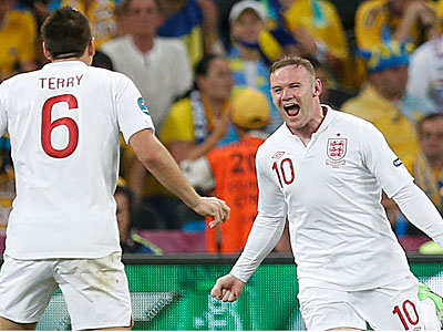 England´s Wayne Rooney. (AP Photo/Matthias Schrader)