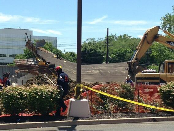 A collapse at a construction site in Cherry Hill.