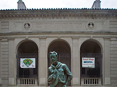 Philadelphia had ordered the Boy Scouts to vacate their city-owned headquarters or pay $200,000 a year in rent unless the local Cradle of Liberty Council renounces the national Scout policy banning homosexuals. (AP Photo / Matt Rourke)