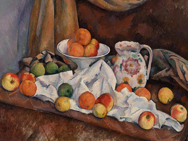 Still Life (Nature Morte) (1892-1894) by Cezanne, at the Barnes Foundation. The exhibition, which features only 21 works of modest size, runs until Sept. 22. (Barnes Foundation)