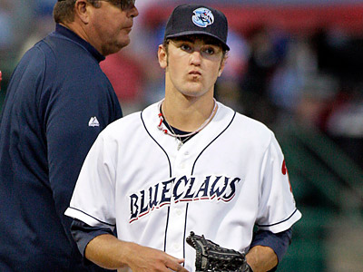 Prospect Jarred Cosart will not pitch for the remainder of the season. (Elizabeth Robertson/Staff Photographer)