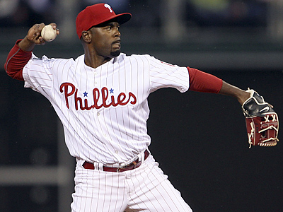 The Phillies´ shortstop JImmy Rollins will return to the lineup tonight after spending time on the disabled list. (Yong Kim / Staff Photographer)