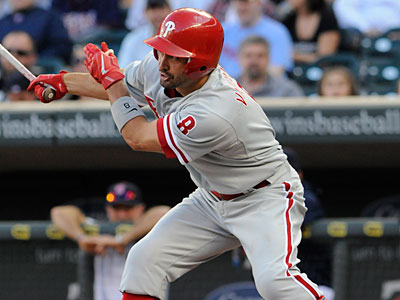 Shane Victorino has been benched in the series opener against the Tampa Bay Rays. (Jim Mone/AP)